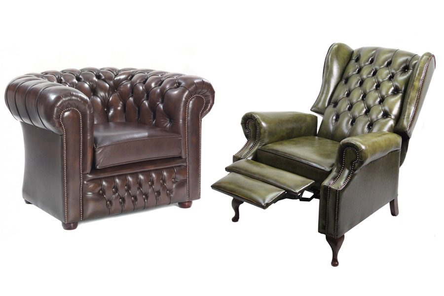 Dreamteam: Chesterfield Sofa, Chesterfield Sessel und Chesterfield Recliner